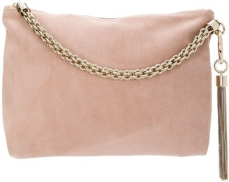 Jimmy Choo ballet pink Callie clutch