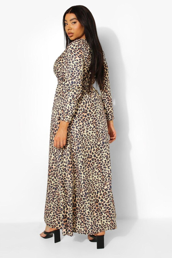 Thumbnail for your product : boohoo Plus Leopard Print Maxi Dress