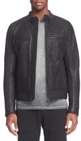 Belstaff Men's 'Reddale' Leather & Genuine Shearling Jacket