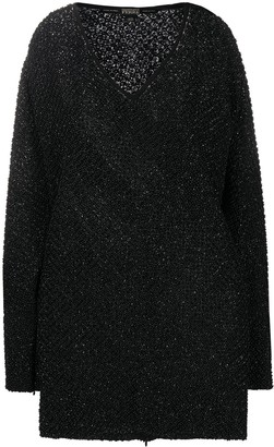 Gianfranco Ferre Pre Owned 1990s bead embroidery mini dress