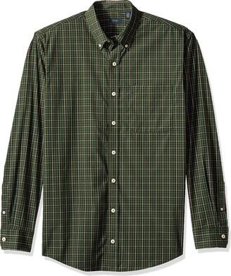 Arrow 1851 Arrow Men's Big and Tall Hamilton Poplin Long Sleeve Button Down Shirt