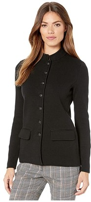 Lauren Ralph Lauren Cotton-Blend Officer's Jacket (Polo Black) Women's Jacket