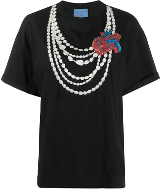 Stella Jean graphic-print necklace T-shirt