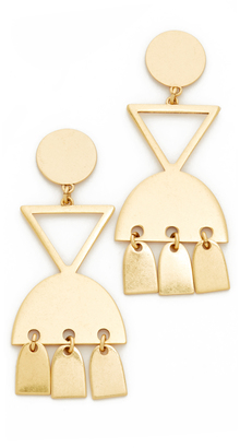 Geo Metal Statement Earrings