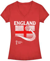 Fifth Sun Red England Flag Ball FIFA World Cup 2018 V-Neck Tee - Juniors