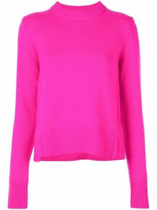 Tibi Round Neck Cashmere Sweater