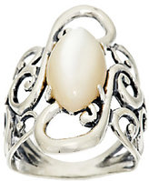 Mother of Pearl Carolyn Pollack Mother-of-Pearl Scroll Design Sterling Ring