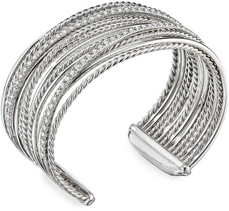 David Yurman DY Crossover Cuff Bracelet w/ Diamonds
