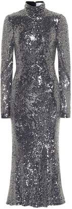 Galvan Legato sequined midi dress