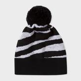 Paul Smith Women's Zebra Pattern Wool Bobble Hat