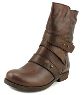 Chocolat Blu Alba Women Round Toe Leather Brown Mid Calf Boot.