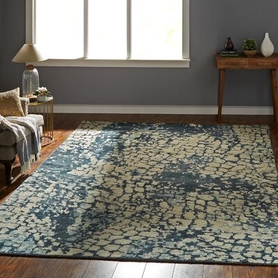 17 Stories Champlin Abstract Hand Knotted Wool Blue Area Rug Rug Size Runner 2 6 X 10 Shopstyle