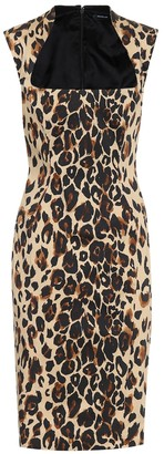 Thierry Mugler Leopard-print cotton midi dress