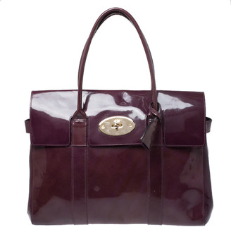 Mulberry Purple Patent Leather Bayswater Satchel