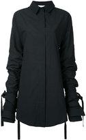 Strateas Carlucci - veil macro shirt - women - Cotton - XS