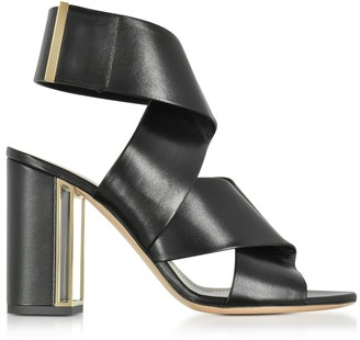 Nicholas Kirkwood Black Nappa Leather Nini Sandals