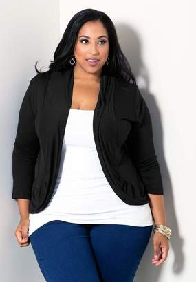 Sealed With A Kiss Sealed w/ A Kiss Amber Shrug Top in Black Size 6X