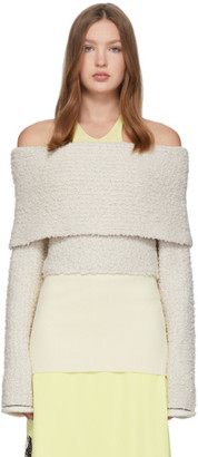 3.1 Phillip Lim Off-White Merino Off-The-Shoulder Sweater
