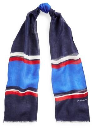 Ralph Lauren Striped Linen Scarf