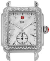 Michele 16mm Deco Diamond Watch Head, Steel