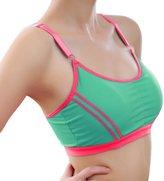 Pooqdo Women Yoga Athletic Solid Wrap Chest Strap Bra