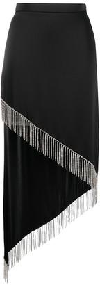 David Koma Asymmetric High-Waist Fringed Skirt