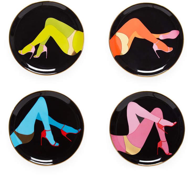 Jonathan Adler Les Girls Porcelain Coasters - Set of 4