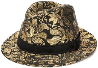 Dolce & Gabbana metallic floral print hat