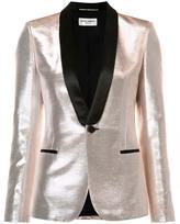 Saint Laurent shawl lapel lustrous blazer - women - Acetate/Cotton/Lurex - 38