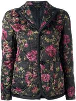 Comme des Garcons quilted floral jacket - women - Polyester - XS