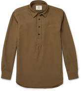 Kent & Curwen Wool-Twill Half-Placket Shirt