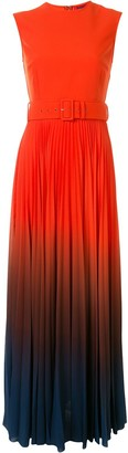 SOLACE London Sleeveless Belted Ombre Dress