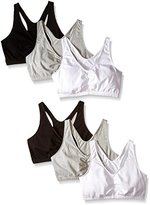 Fruit of the Loom Women's Shirred-Front Racerback Bra (Pack of Six)
