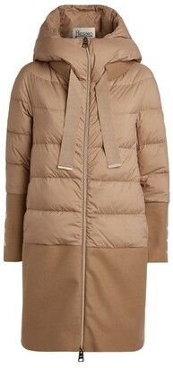Herno Wool Panel Padded Coat