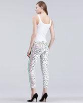 Current/Elliott The Stiletto Neon Leopard Jeans