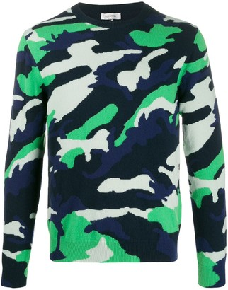 Valentino Camouflage Crew Neck Jumper