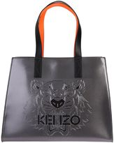Kenzo Silver Leather Tiger Tote Bag