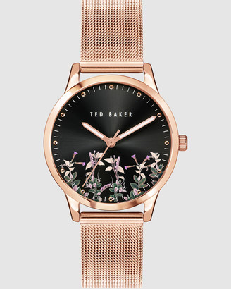 Ted Baker Women's Watches - Fitzrovia Jardin Rose Gold Mesh Watch - Size One Size at The Iconic