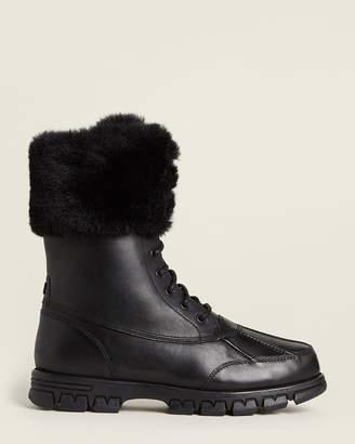 Lauren Ralph Lauren Black Dabney Faux Fur-Lined Snow Boots