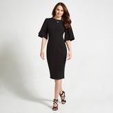 Apricot Black Flute Sleeve Bodycon Dress