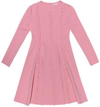 Il Gufo Ruffled stretch jersey dress