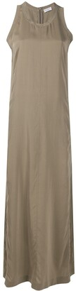 Brunello Cucinelli Sleeveless Silk Maxi Dress