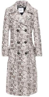 Ainea Snake-print Faux Leather Trench Coat
