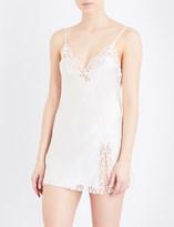 La Perla Petit Macramé silk-satin slip dress