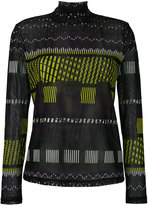 Issey Miyake printed sweatshirt - women - Polyester - 3
