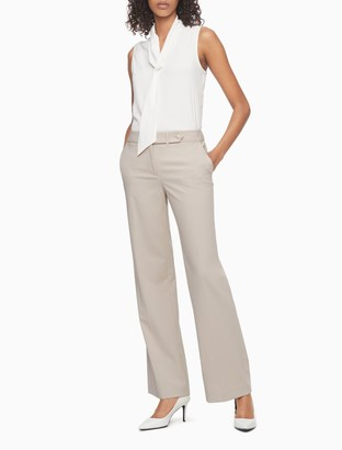 Calvin Klein Straight Fit Flared Suit Pants