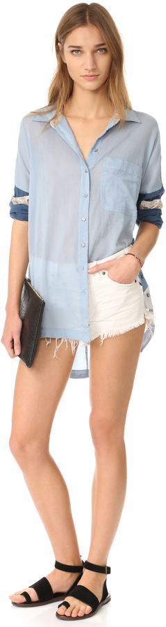Free People Soft & Worn Relaxed Cutoff Shorts