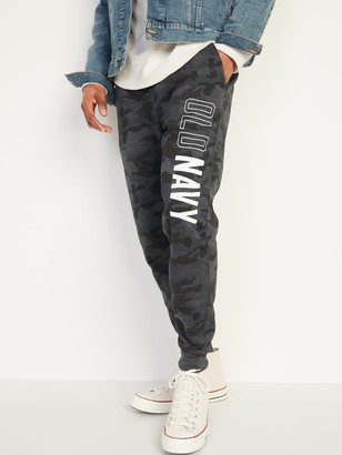 Old Navy Logo-Graphic Camo Jogger Sweatpants for Men