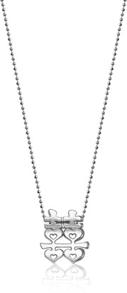 """Alex Woo Little Faith"""" Sterling Silver Chinese Double Happiness Pendant Necklace 16"""""""