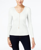 INC International Concepts Petite Ribbed Sweater, Only at Macy's